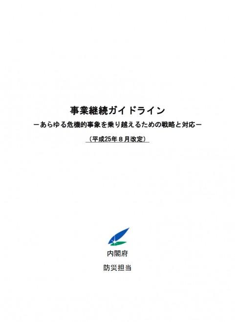 事業継続ガイドライン (内閣府)