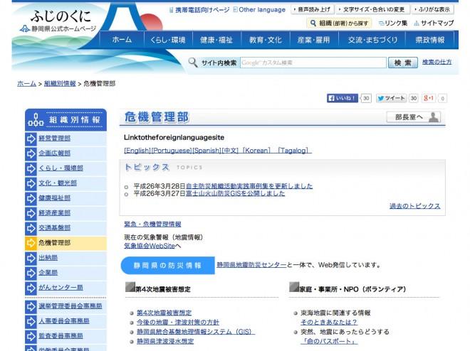静岡県 危機管理部