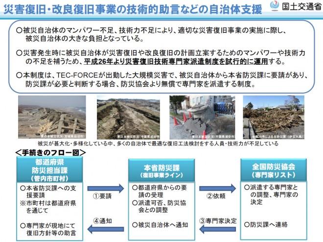 災害復旧技術専門家派遣制度(国交省)