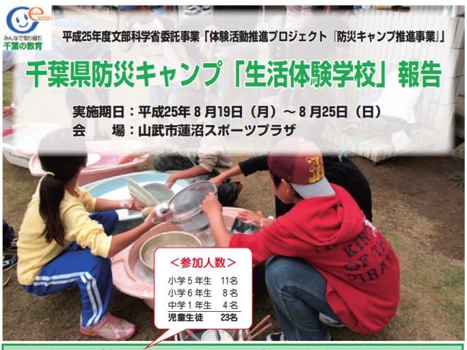 防災キャンプ推進事業(千葉県教委)