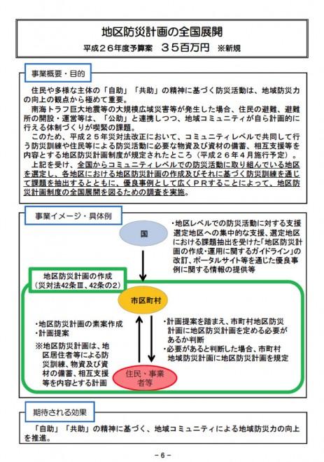 平成26年度予算案・税制改正概要 (内閣府)