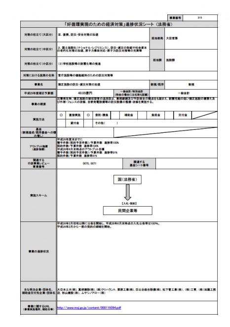 災害に強い法務行政の構築 要求概要シート(法務省)