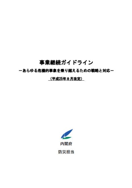 事業継続ガイドライン第3版(内閣府)