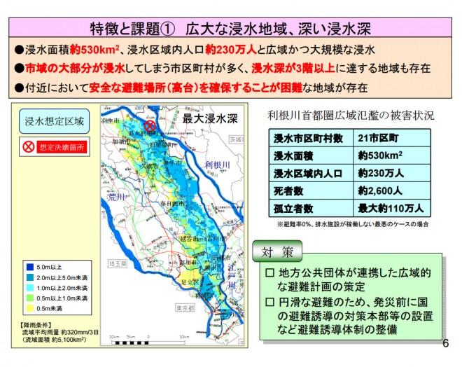 首都圏水没~被害軽減のために取るべき対策とは~(内閣府)