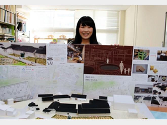 防災テーマにデザイン競う 明石高専生が最優秀賞