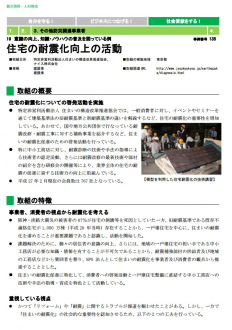 国土強靱化 民間の取組事例集 普及啓発・人材育成(内閣官房)