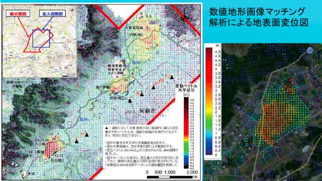 熊本・大分地震災害調査団の「地震断層斑」「斜面災害斑」「水文地質斑」の調査報告(2016防災推進国民大会)
