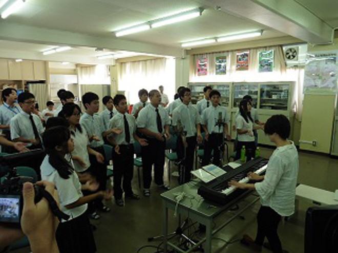 愛知県立海翔高生らがつくった防災ソング「つなぎたい未来」