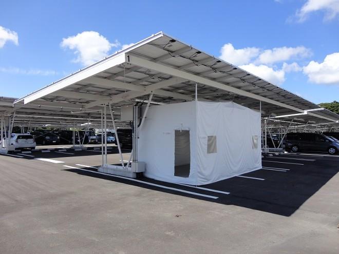 ソーラーカーポートの災害時利用で菊川市と協定、SUSの静岡事業所