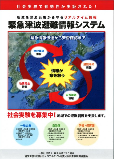 緊急津波避難情報システム紹介(2016防災推進国民大会)