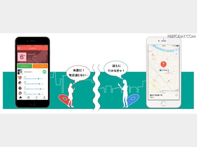 災害時だけ家族の位置情報共有!防災アプリ「ココダヨ」
