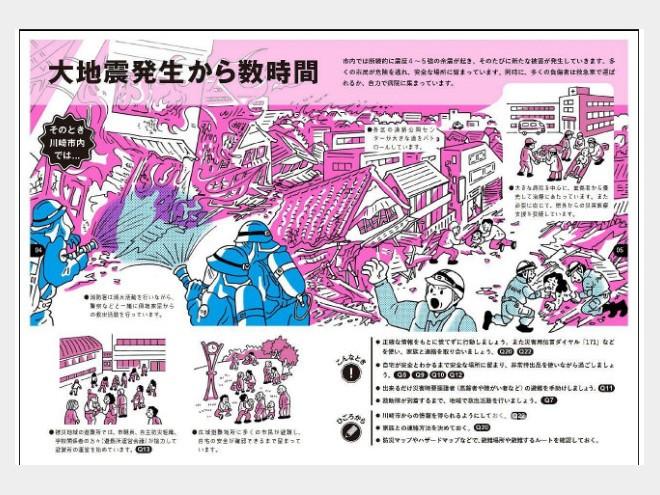 イラストで震災「実感」 川崎市が啓発冊子