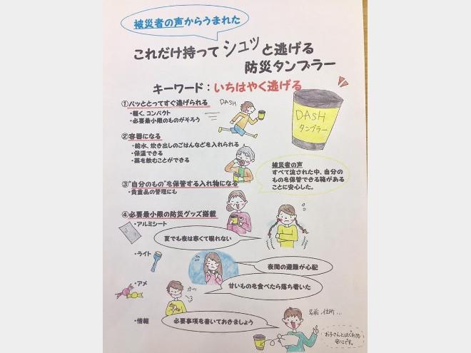高知大学生がコップ防災グッズ「DASHタンブラー」を企画販売