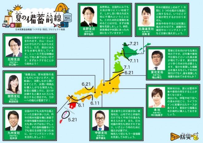 日本気象協会「トクする!防災「夏の備蓄前線」」