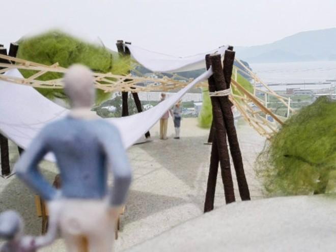 津波から逃れた丘陵地を 防災・コミュニティ拠点としてデザイン「よねさきの丘プロジェクト」
