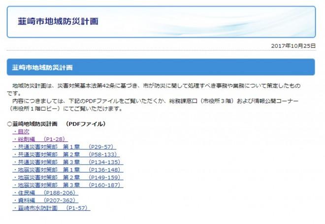 「韮崎市地域防災計画」の公表(韮崎市)