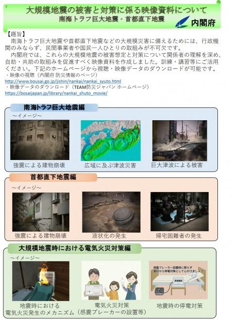 大規模地震の被害想定と対策に係る映像資料(内閣府)
