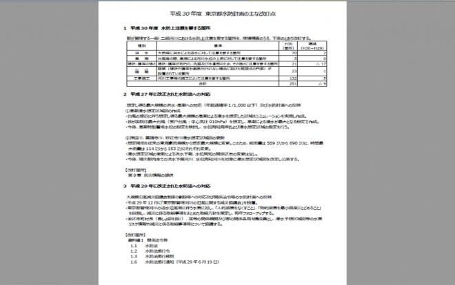 新たな「東京都水防計画」の公表(東京都)