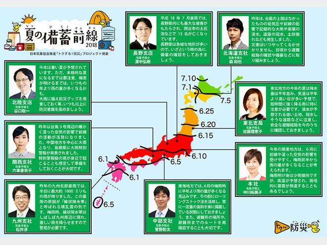 日本気象協会 トクする!防災 『夏の備蓄前線2018』