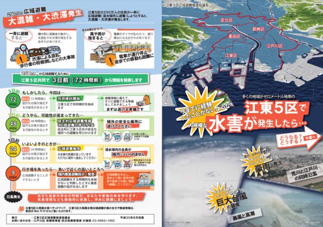 「江東5区大規模水害広域避難計画」および「江東5区大規模水害ハザードマップ」の公表(江東5区)