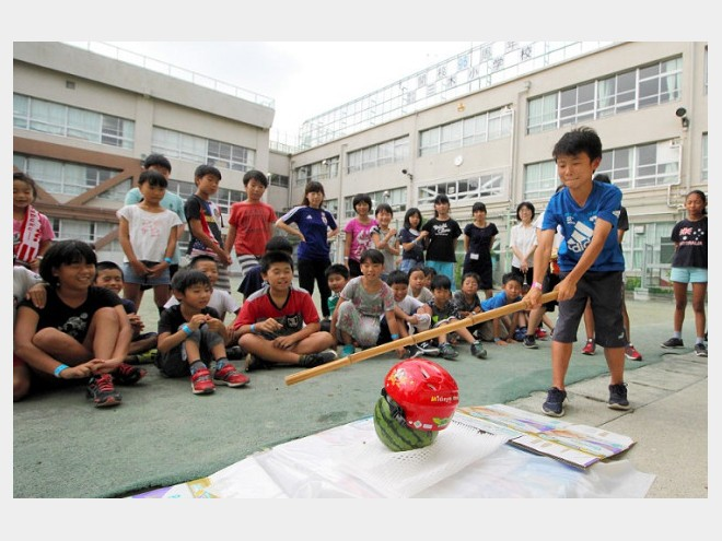 品川区立三木小学校で「防災体験お泊まり会」