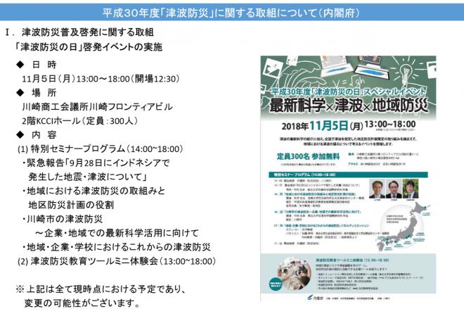 平成30年度「津波防災」に関する取組について(内閣府)