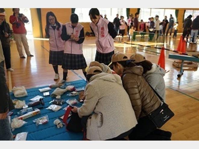 明石南高等学校 めいなん防災ジュニアリーダー考案「にげろ!あにまるず」