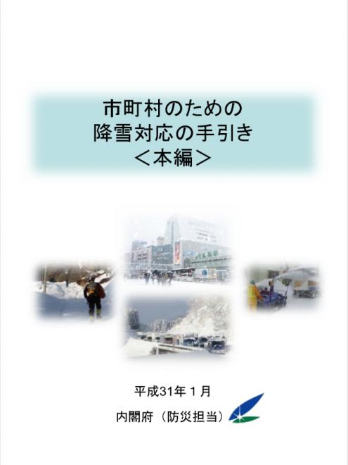 「市町村のための降雪対応の手引き」の公表(内閣府)