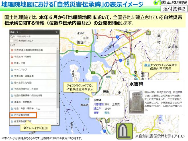 地図で確認 先人が伝える災害の教訓(国土地理院)