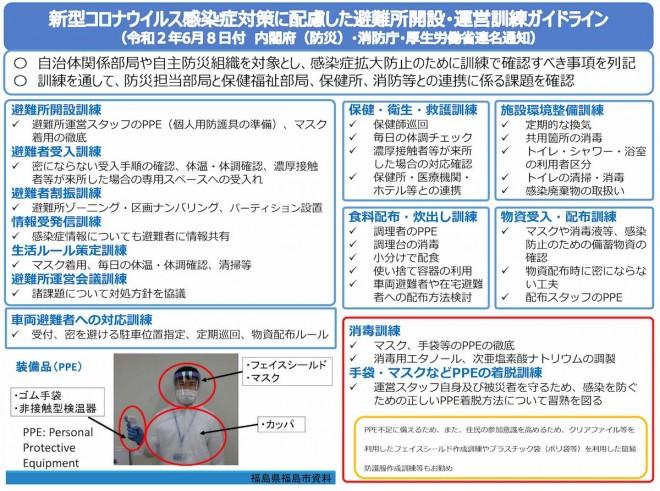 新型コロナウイルス感染症対策に配慮した避難所開設・運営訓練ガイドライン(内閣府)